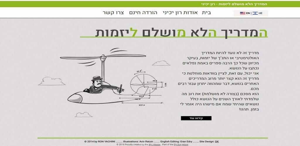 אתר ליעוץ עסקי – אתר לשיווק וקידום, Fly Guy