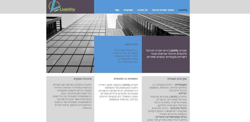 Liability – אתר הדגמה