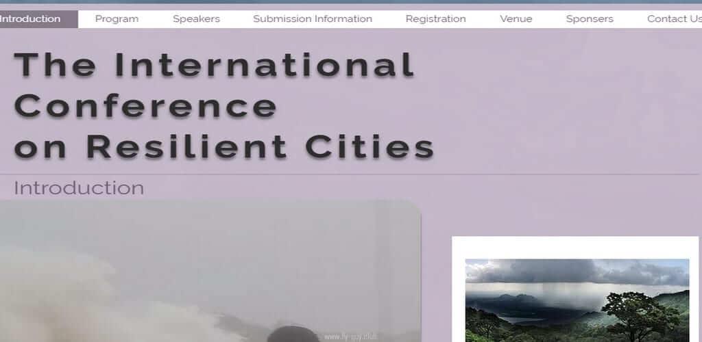 כנס  Resilient Cities