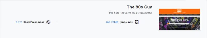 אתר the80guy.com לפני אופטימיזציה tinypng